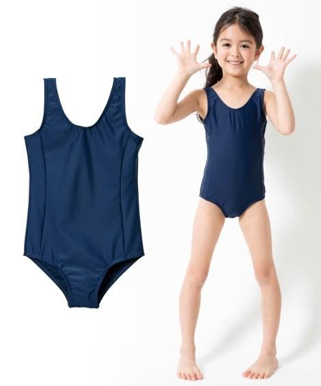 87b57122f3b 水着 スクール キッズ ラン型 ワンピース 女の子 スポーツウェア 身長120 ...