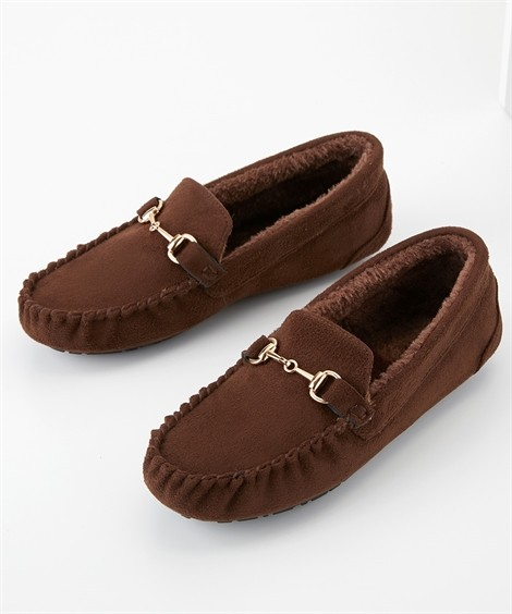 靴(シューズ) 内ボアビットモカシンシューズ ニッセン nissen(ブラウン)