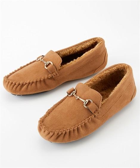 靴(シューズ) 内ボアビットモカシンシューズ ニッセン nissen(キャメル)