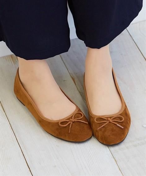 靴(シューズ)|ラウンドトゥバレエシューズ ニッセン nissen(キャメル)