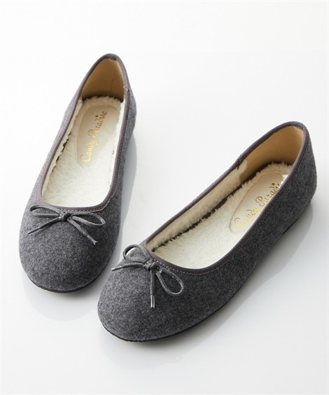 靴(シューズ)|内ボアバレエシューズ ニッセン nissen(グレー)