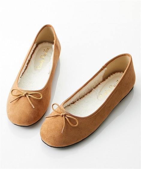 靴(シューズ)|内ボアバレエシューズ ニッセン nissen(キャメル)