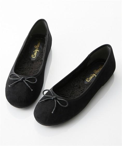 靴(シューズ)|内ボアバレエシューズ ニッセン nissen(黒)