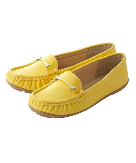 靴(シューズ)|ビット付モカシンシューズ(低反発中敷)(ワイズ4E) ニッセン nissen(イエロー)