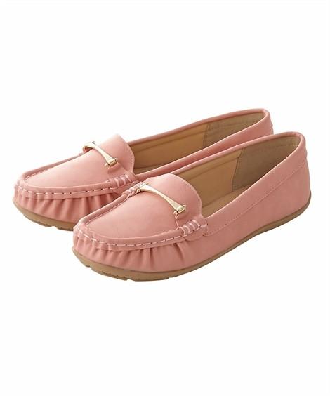 靴(シューズ)|ビット付モカシンシューズ(低反発中敷)(ワイズ4E) ニッセン nissen(ピンク)