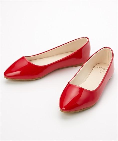 靴(シューズ) やわらかカッターシューズ(低反発中敷)(ワイズ4E) ニッセン nissen(赤エナメル)