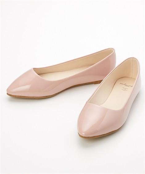 靴(シューズ) やわらかカッターシューズ(低反発中敷)(ワイズ4E) ニッセン nissen(ピンクベージュエナメル)