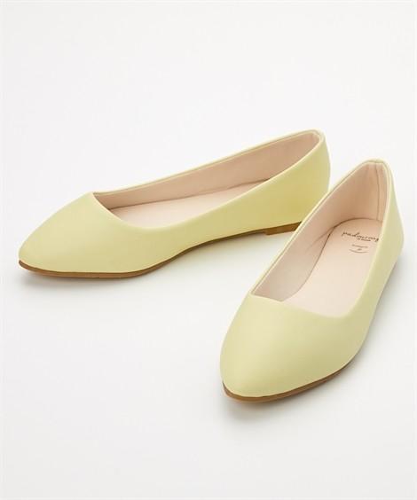 靴(シューズ) やわらかカッターシューズ(低反発中敷)(ワイズ4E) ニッセン nissen(イエロー)