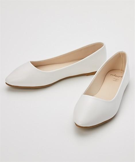 靴(シューズ) やわらかカッターシューズ(低反発中敷)(ワイズ4E) ニッセン nissen(ホワイト)