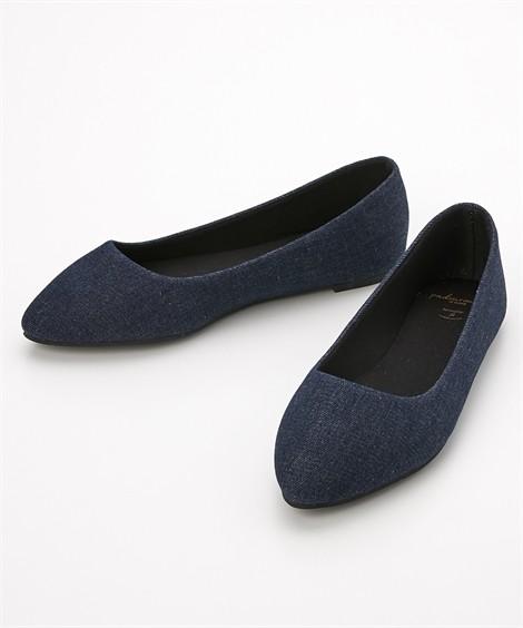 靴(シューズ) やわらかカッターシューズ(低反発中敷)(ワイズ4E) ニッセン nissen(ネイビーデニム)