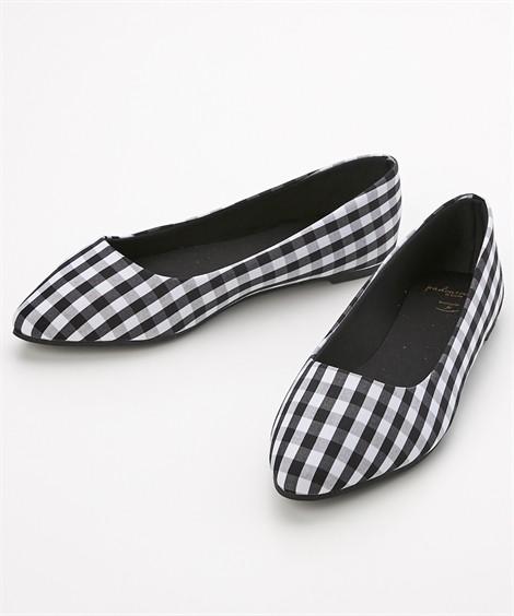 靴(シューズ) やわらかカッターシューズ(低反発中敷)(ワイズ4E) ニッセン nissen(チェック柄)