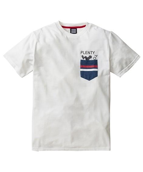 トップス・ワイシャツ PLENTY TOUGH SPORT(プレンティタフスポーツ)カノコデザインポケット付半袖Tシャツ ニッセン nissen(白系)
