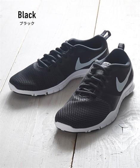 靴(シューズ)|ナイキ ウィメンズフレックスエッセンシャルTR ニッセン nissen(ブラック)