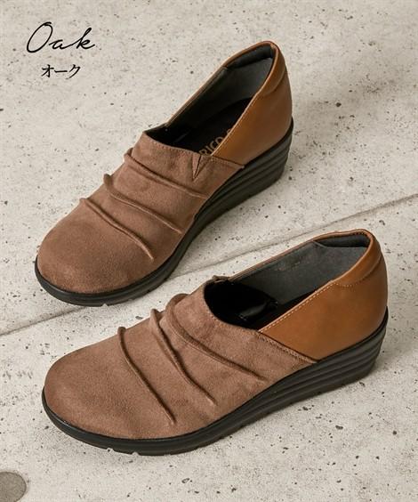 靴(シューズ)|超軽量ウェッジヒールシューズ(4Eワイズ) ニッセン nissen(オーク)