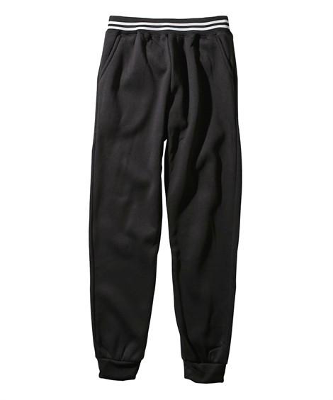 ボトムス|裏起毛ロングパンツ(男の子 子供服・ジュニア服) ニッセン nissen(黒)