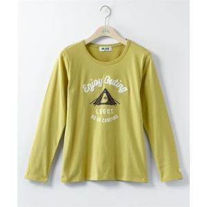 Tシャツ カットソー 大きいサイズ レディース LOGOS ロゴス プリント 長袖 LL/3L/4L/5L ニッセン nissen|ニッセン PayPayモール店