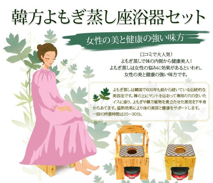 韓方よもぎ蒸し座浴器セット 7エステnshop店 通販 Yahoo ショッピング
