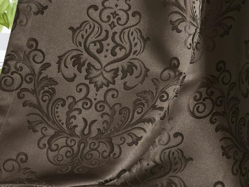 北欧柄ダマスク柄ジャガード遮光カーテン