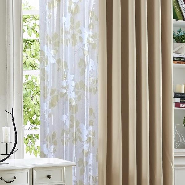 カーテン  遮光1級or遮光2級カーテン+リーフ柄ミラーレースカーテン セット 4色  80サイズ オーダーカーテン ドレープカーテン curtain|nt-curtain|20