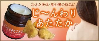 ジンジャー/生姜/化粧品/アーユルヴェーダ/クリーム