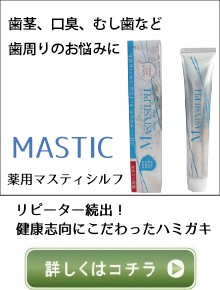 マスティック/はみがき/歯周病/口臭/歯医者