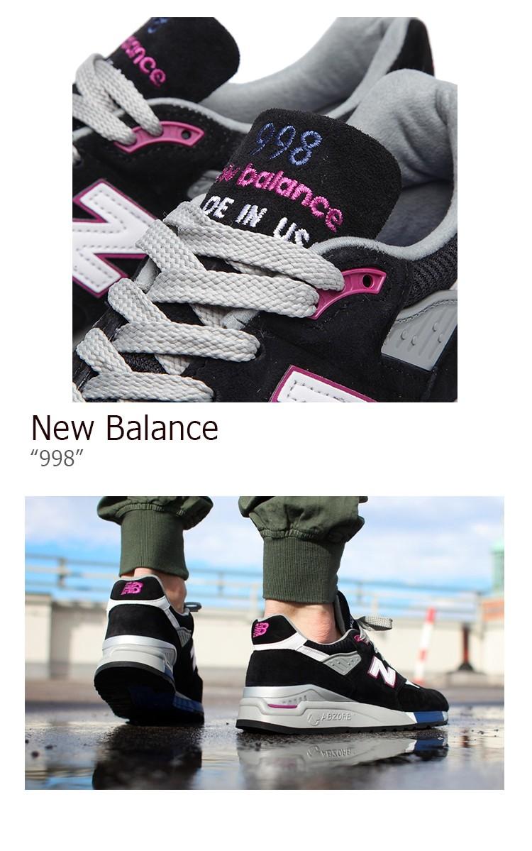 buy popular 7f2f6 9e424 New Balance 998 Black Violet ニューバランス M998BK MADE IN USA スニーカー シューズ