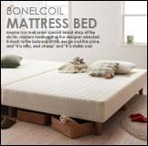 ベーシックボンネルコイル脚付きマットレスベッド シングル  通販