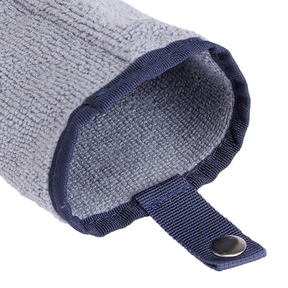 水滴を吸水するマイクロファイバー ポケットは、洗える取りはずしタイプ