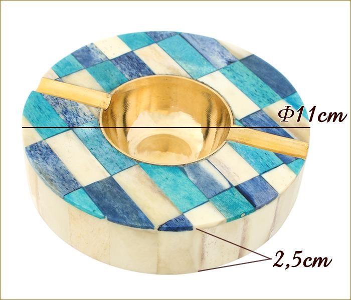 ボーン灰皿ラウンド サイズ