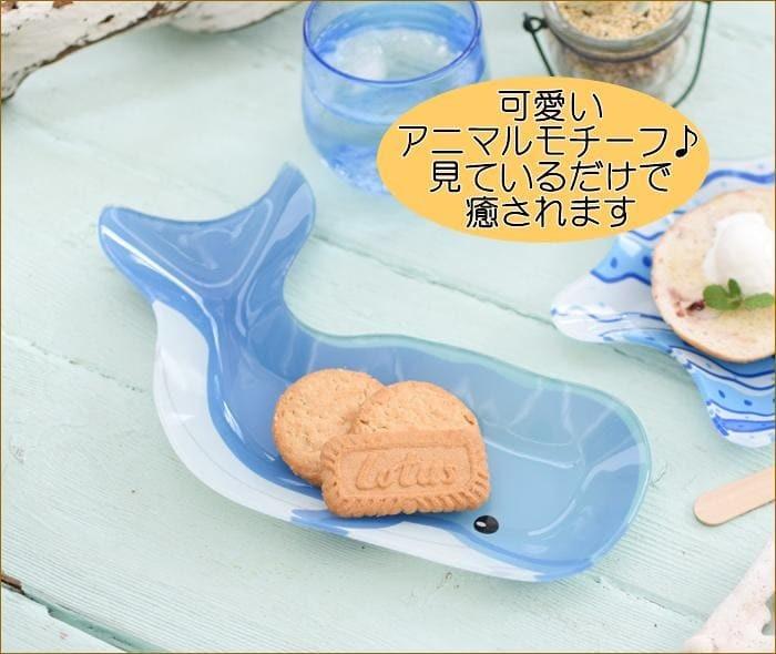ガラスプレート クジラL