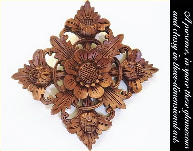 木彫りレリーフ スクエアL