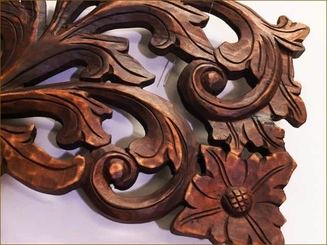 木彫りレリーフ10cm