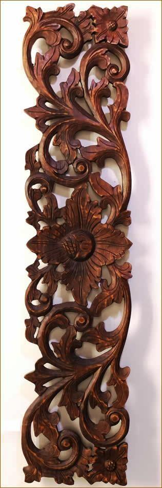木彫りレリーフ100cmA柄