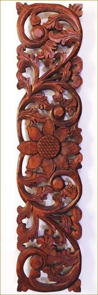 木彫りレリーフ100cmB柄
