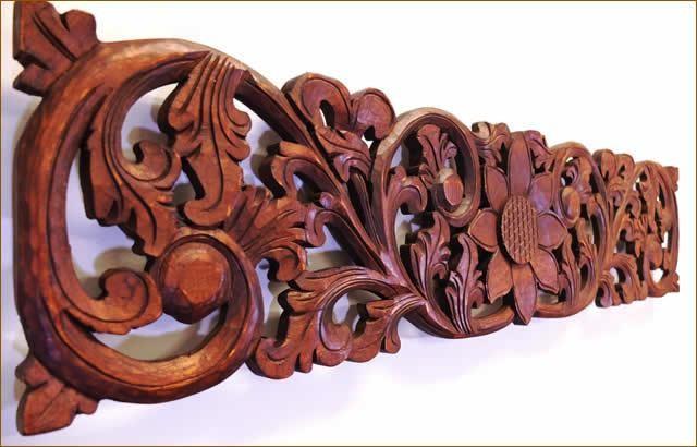 木彫りレリーフ100cm