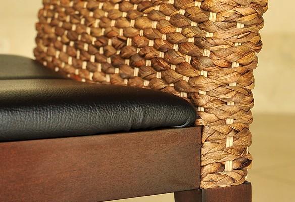 アジアン家具:ダイニングチェアー ウォーターヒヤシンス座面