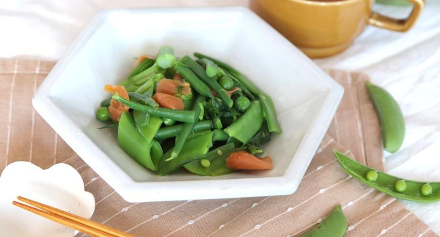梅と春野菜のお浸し