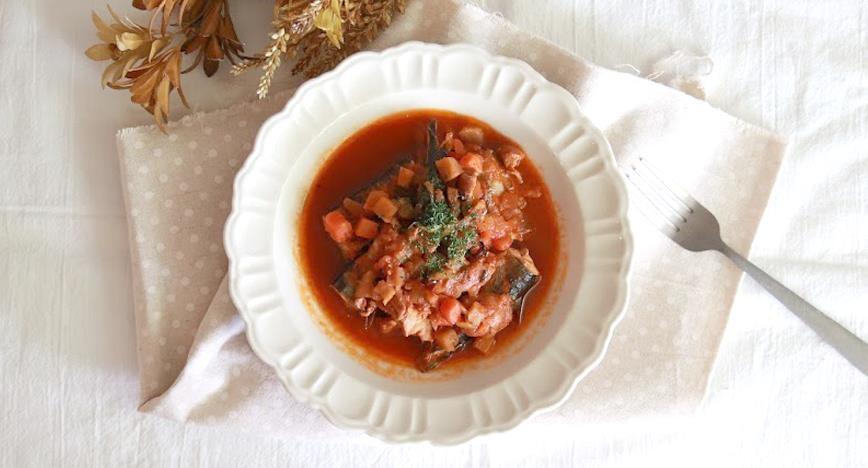 さんまのピリ辛トマト煮