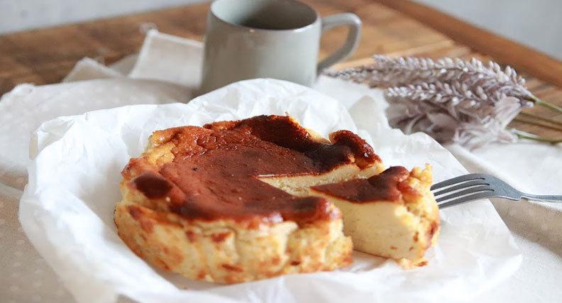 ほうじ茶のバスクチーズケーキ