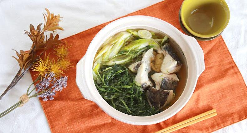 水菜と鱈のはりはり鍋