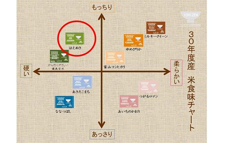 ICHIZEN 食味チャート はえぬき 75g(0.5合)
