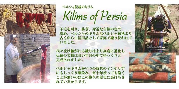 ペルシャ伝統のキリム