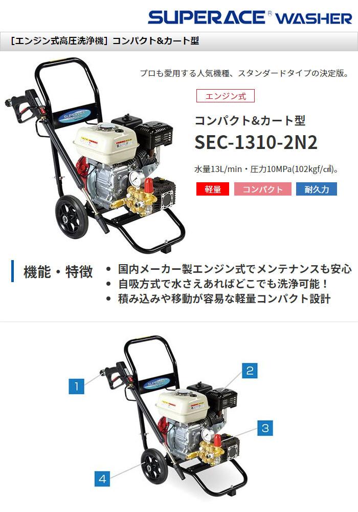 高圧洗浄機 スーパーエースウォッシャー エンジン式/10Mpa SEC-1310-2