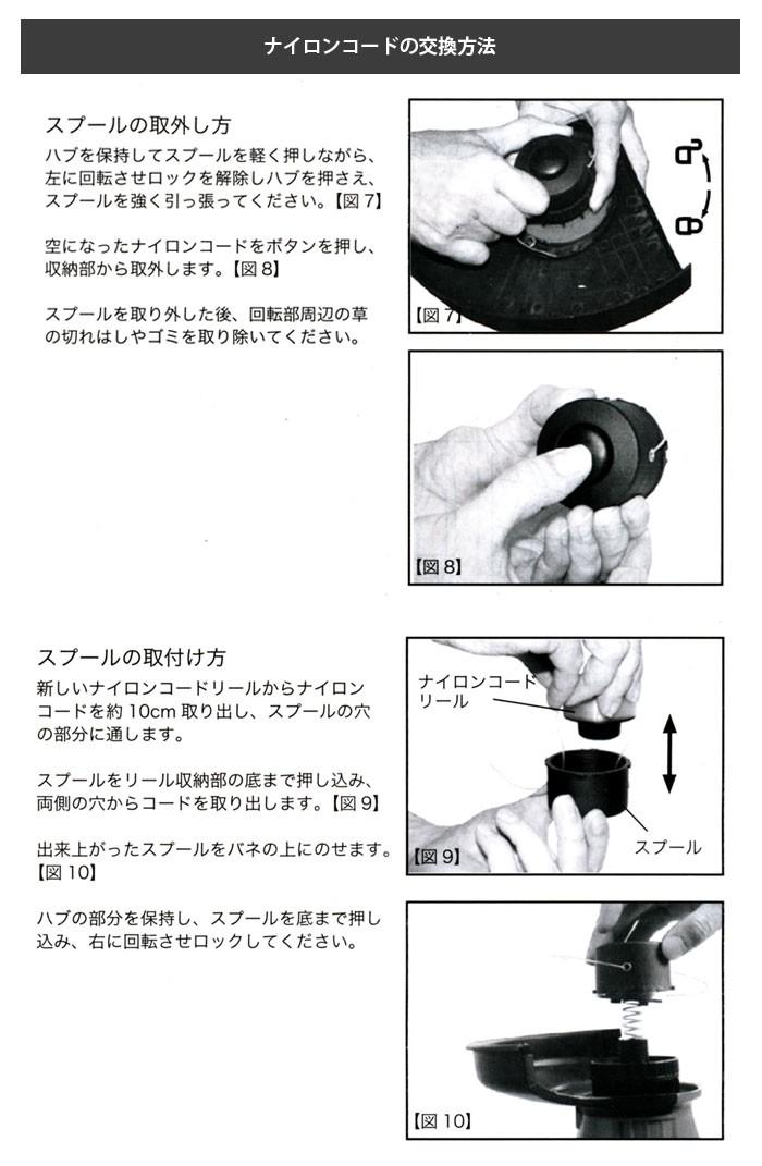 電動草刈機 健太郎くん用交換ナイロンカートリッジ 4個セット
