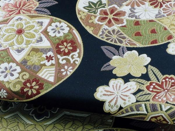 振袖帯 正絹袋帯 西陣織 豪華な手まり模様 古典柄