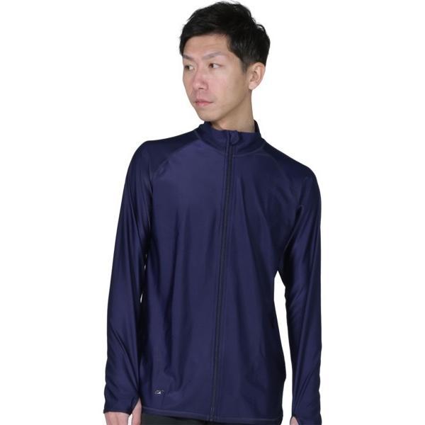 ラッシュガード メンズ 長袖 フードなし パーカー 水着 体型カバー 紫外線対策 おしゃれ 大きいサイズ PR-4300 oc-sports 18