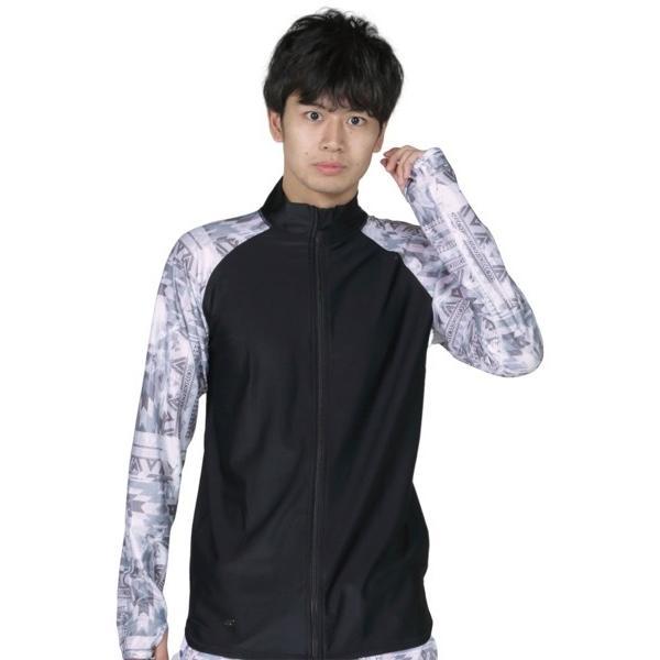 ラッシュガード メンズ 長袖 フードなし パーカー 水着 体型カバー 紫外線対策 おしゃれ 大きいサイズ PR-4300 oc-sports 27
