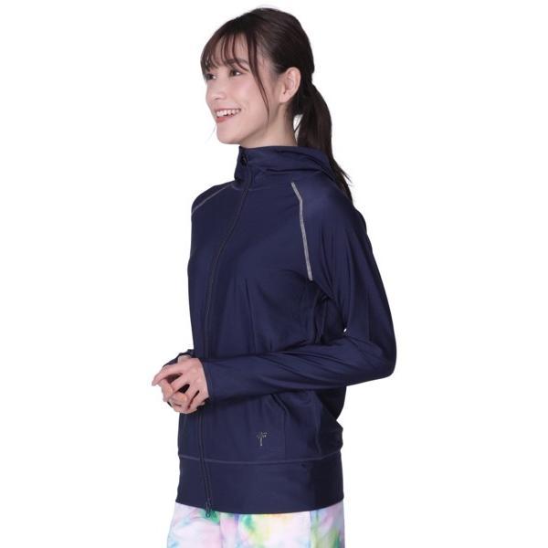 ラッシュガード レディース 長袖 フード パーカー 水着 体型カバー 紫外線対策 おしゃれ 大きいサイズ 透けない白 IR-7100|oc-sports|19