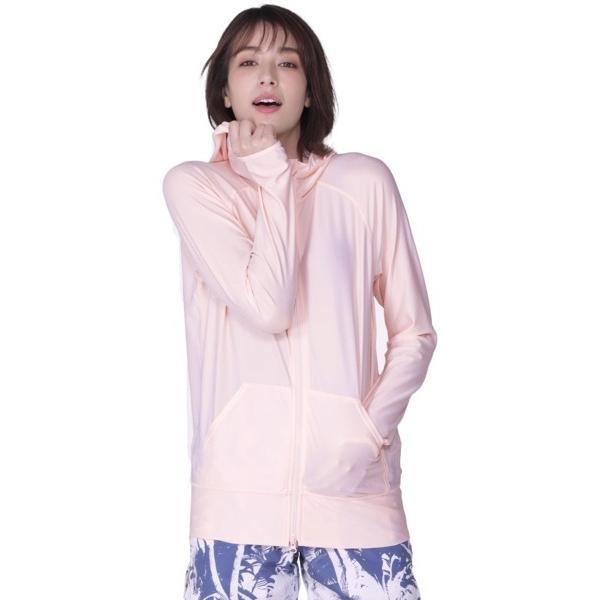 ラッシュガード レディース 長袖 フード パーカー 水着 体型カバー 紫外線対策 おしゃれ 大きいサイズ 透けない白 IR-7100|oc-sports|34