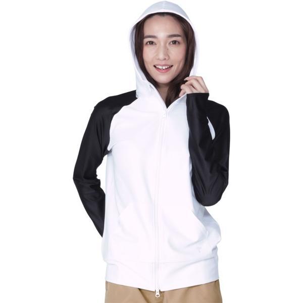 ラッシュガード レディース 長袖 フード パーカー 水着 体型カバー 紫外線対策 おしゃれ 大きいサイズ 透けない白 IR-7100|oc-sports|36